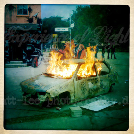 Brennendes-Auto