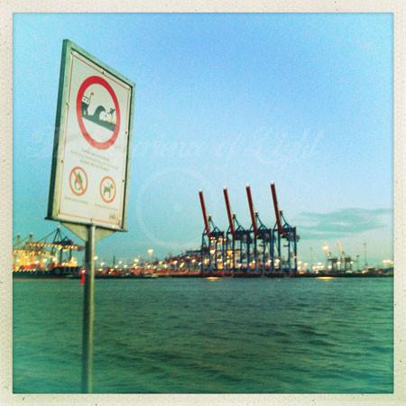 Hamburg-Hafen-Schild