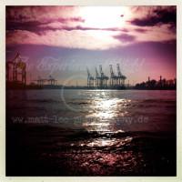 Sonnenuntergang-Hafen-Hamburg