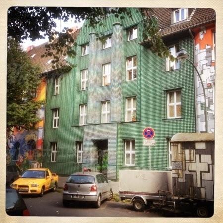 Grünes Haus in Düsseldorf
