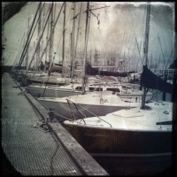 Boote in grunge
