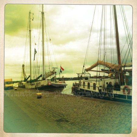 Boot am Kieler Hafen