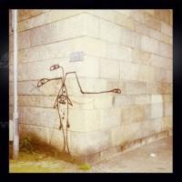 Strichmännchen auf Wand