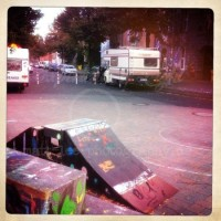 Straßenrampe