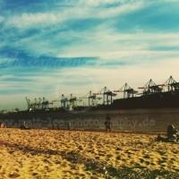 Kräne an der Strandperle